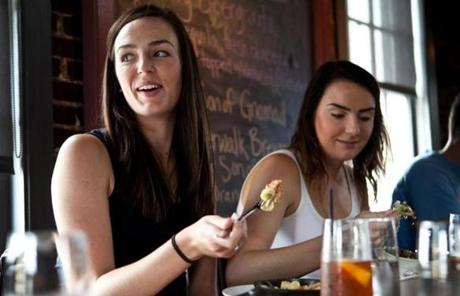 Marie Kosnik (left) and Carrie Kosnik ate lunch at Ten Center Street Restaurant and Pub during the Taste of Newburyport food tour.